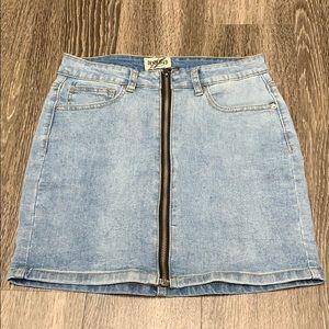 Dresses & Skirts - Denim zip up skirt